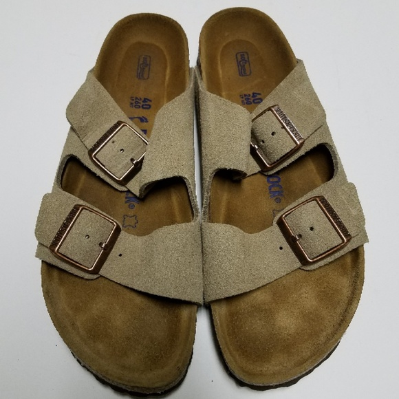 birkenstock arizona taupe soft footbed